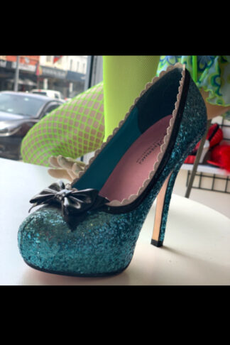 Leg Avenue 5001 Blue Glitter High Heel