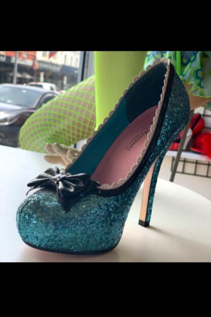 Leg Avenue 5001 Blue Glitter High Heel