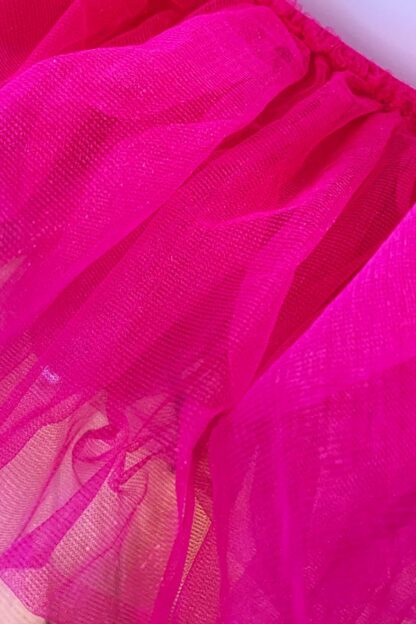 Organza Tutu Skirt Hot Pink Close