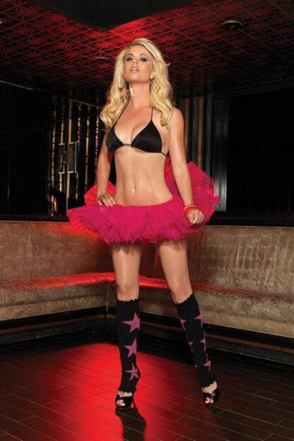 Organza Tutu Skirt Hot Pink Front2