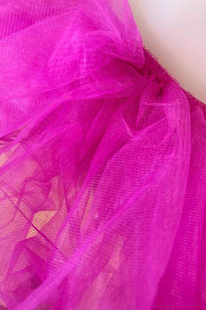Organza Tutu Skirt Fuchsia Close