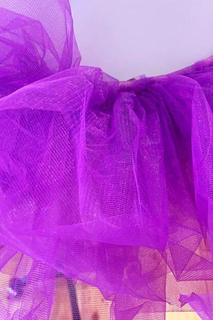 Organza Tutu Skirt Purple Close
