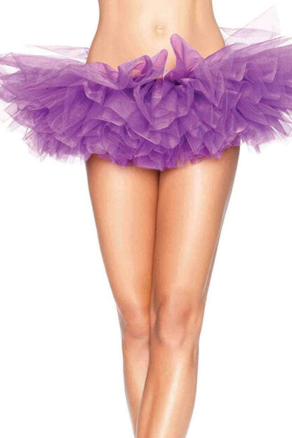 Organza Tutu Skirt Purple Front