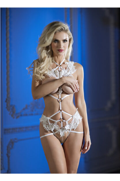 Pure Cage Teddy Set - White-front