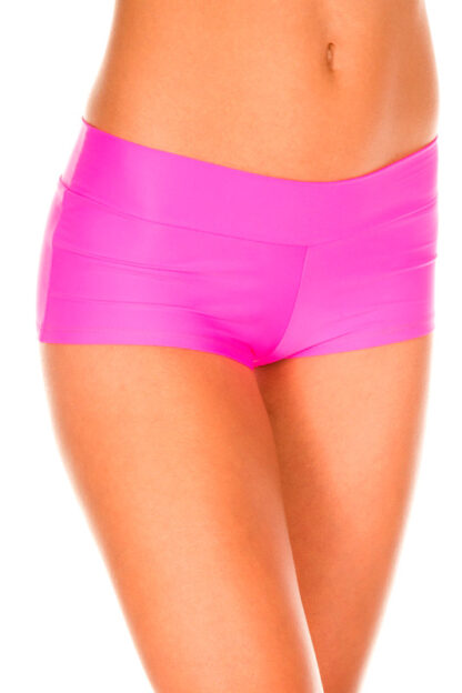 Stretched Booty Shorts - Neon Pink