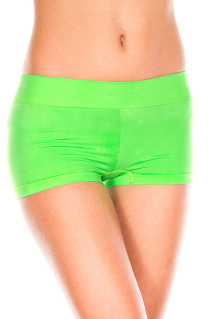 Stretched Booty Shorts - Neon Green