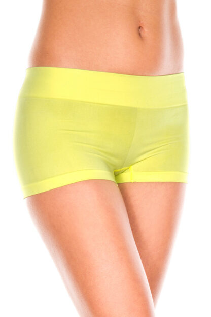 Stretched Booty Shorts - Neon Yellow