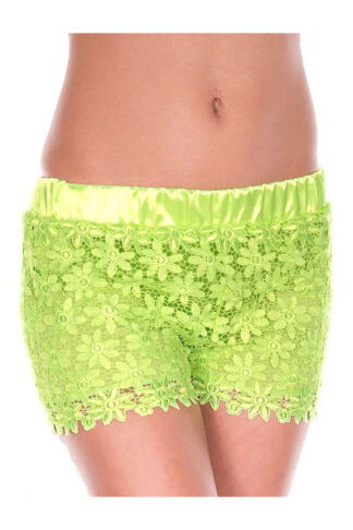Lace Shorts - Neon Green
