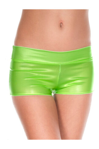 Pastel Color Booty Shorts with Waistband - Neon Green