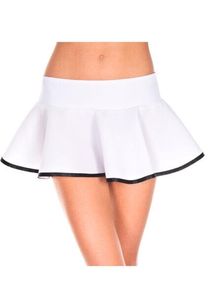 Striped Wavy Skirt - White & Black