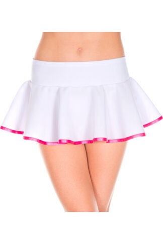 Striped Wavy Skirt - Comes in 2 Colors White & Pink