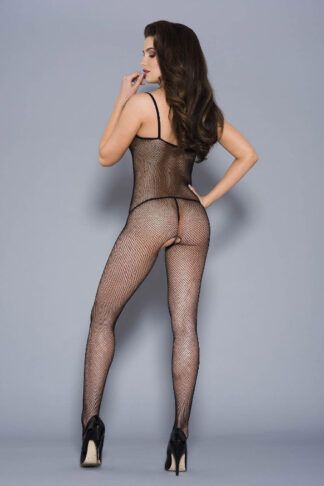 Fishnet Crotchless Bodystocking - Black ML#1901 Back