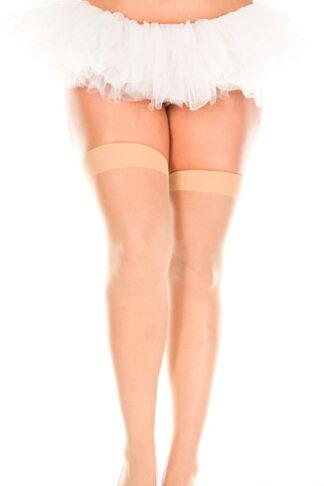 Sheer Thigh Hi - Queen Size (Beige)