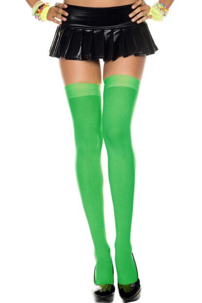 Opaque Thigh Highs Green