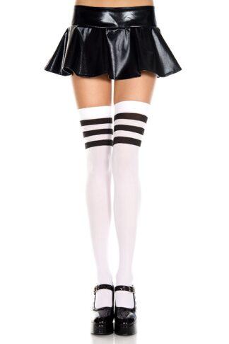 Striped Top Opaque Thigh Hi