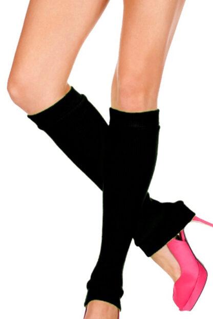 Acrylic Knee Hi Warmer - Black