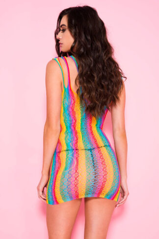 Shredded Straps Rainbow Net Mini - Rainbow Back