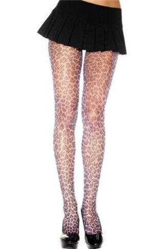 Leopard Print Fishnet Pantyhose