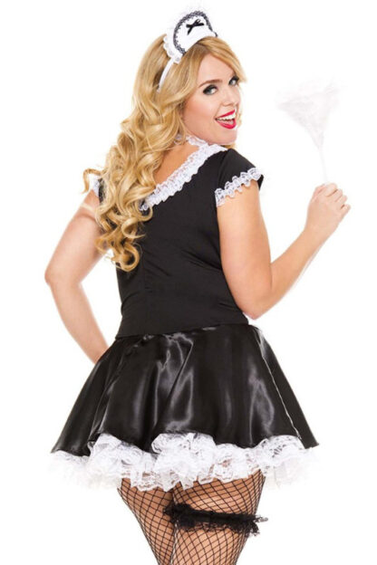 French Maid Queen Size- 4 pieces Back Angle