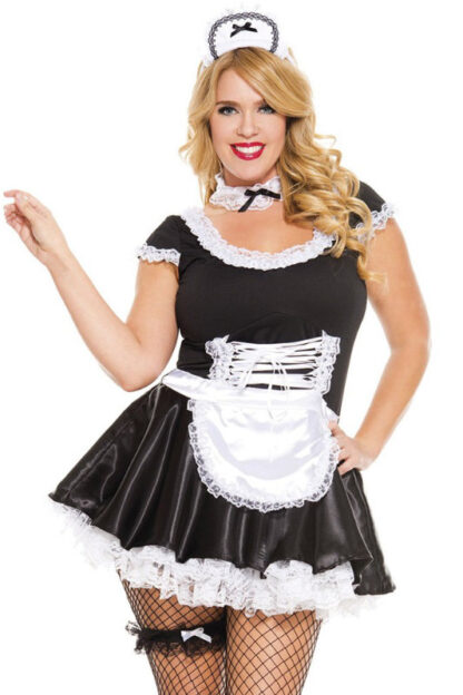 French Maid Queen Size- 4 pieces Close Angle