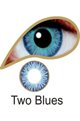 MesmerEyez 3 Month Contact Lenses - Two Blue