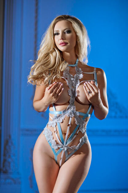 Emily Strappy Cage Teddy 2