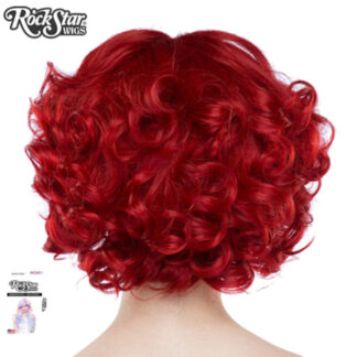 Gothic Lolita Wigs Curly Bob - Crimson Red 3