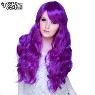 Gothic Lolita Wigs Classic Wavy Lolita Collection - Purple Mix Front 2
