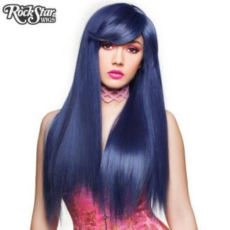 Gothic Lolita Wigs Bella Collection - Blue Black (BU05) Front