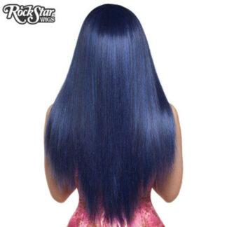 Gothic Lolita Wigs Bella Collection - Blue Black (BU05) Back
