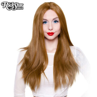 "Lace Front 26"" Yaki Straight - Medium Brown Blend Front"