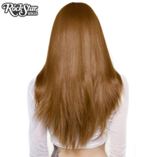 "Lace Front 26"" Yaki Straight - Medium Brown Blend Back"
