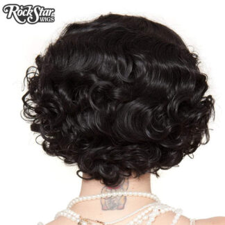 1920's Flapper Finger Waves - Black RSW00837 Back