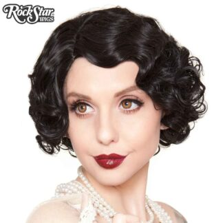 1920's Flapper Finger Waves - Black RSW00837 Front 3