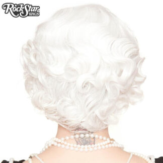1920's Flapper Finger Waves - White RSW00841 Back