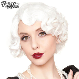 1920's Flapper Finger Waves - White RSW00841 Front