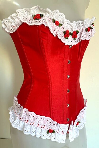 Rose's Satin Corset Front