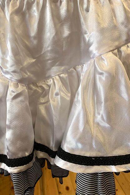 Satin & Stripe Petticoat Skirt White Close