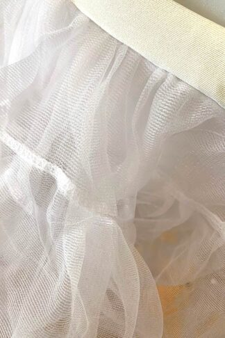 Double Layer Petticoat - White Close