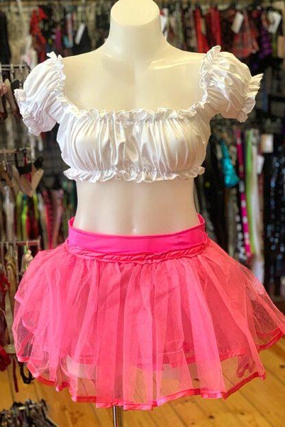 Siren Doll Original Tutu Petticoat Skirt Pink Front