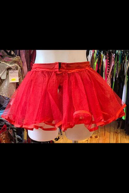 Siren Doll Original Tutu Petticoat Skirt Red Back
