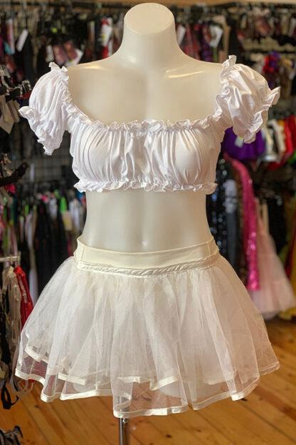 Siren Doll Original Tutu Petticoat Skirt White Front