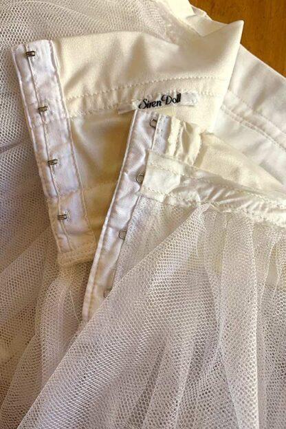 Siren Doll Original Tutu Petticoat Skirt White hock
