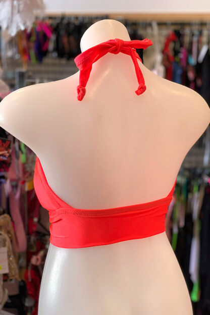 Siren Doll Padded Bikini Top - Neon Orange Back