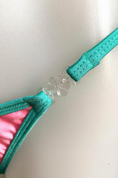 Siren Doll Small Cup Bikini Set - Barbie Pink & Mint Green Clip