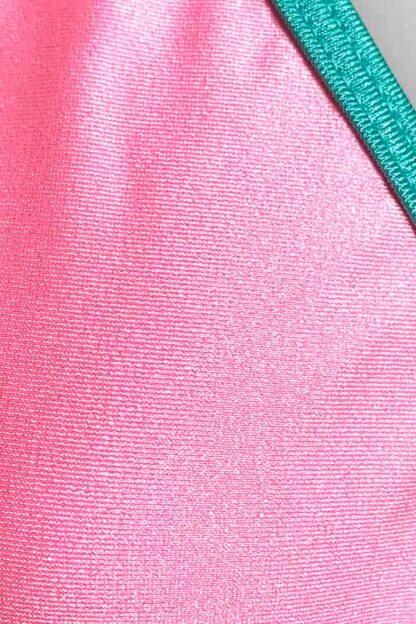 Siren Doll Small Cup Bikini Set - Barbie Pink & Mint Green Close