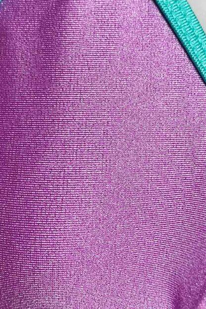 Siren Doll Small Cup Bikini Set - Lavender & Mint Green Close