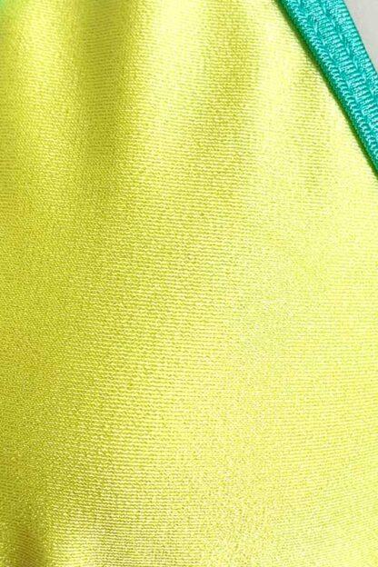 Siren Doll Small Cup Bikini Set - Lemon & Mint Green Close