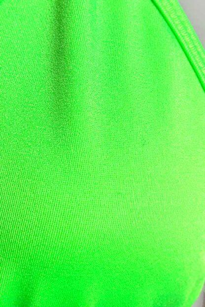 Siren Doll Small Cup Bikini Set - Neon Green Close