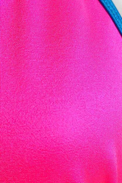 Siren Doll Small Cup Bikini Set - Neon Pink & Turquoise Close